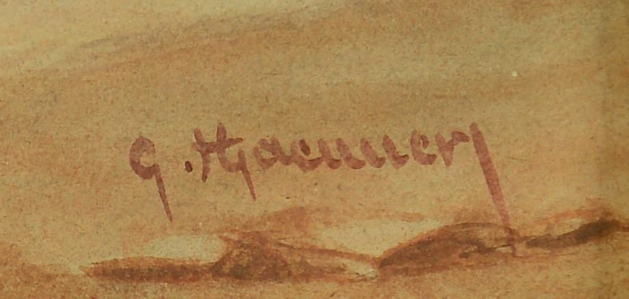 Lot 205: 19th C. Orientalist Watercolor