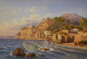 Lot 207: Neapolitan School watercolor, Castellamare