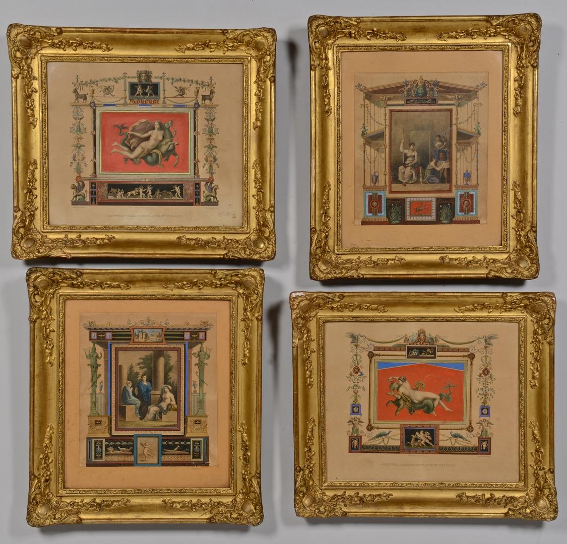 Lot 212: 4 Pompeii Prints, 19th c.