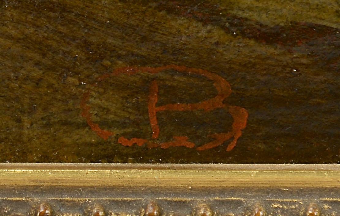 Lot 213: Italian School Oil on Canvas Harbor Scene