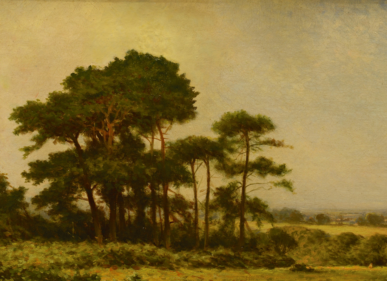 Lot 214: H. East Oil on Canvas Landscape