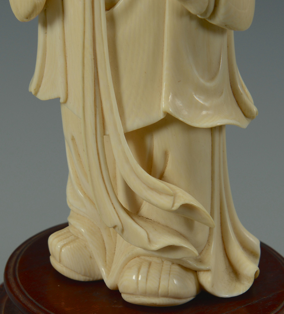 Lot 218: Large Chinese Carved Quan Yin figure