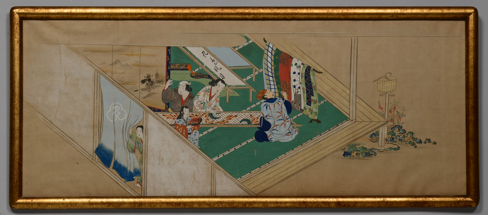 Lot 221: Asian Painting of Obi Makers