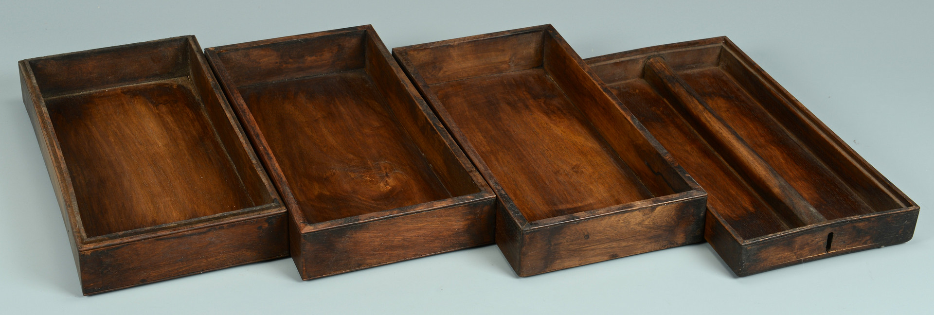 Lot 223: Chinese Hardwood Plant Stand & Lunchbox