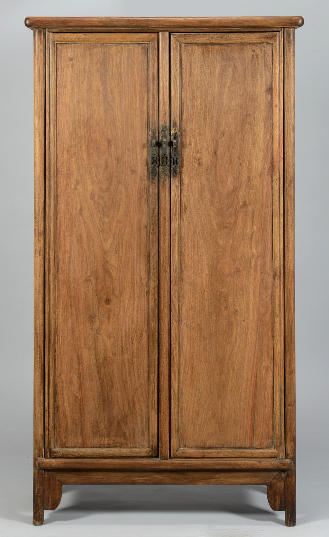 Lot 224: Chinese Hardwood Wardrobe