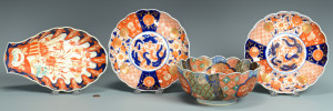 Lot 229: 4 Japanese Imari Porcelain Items