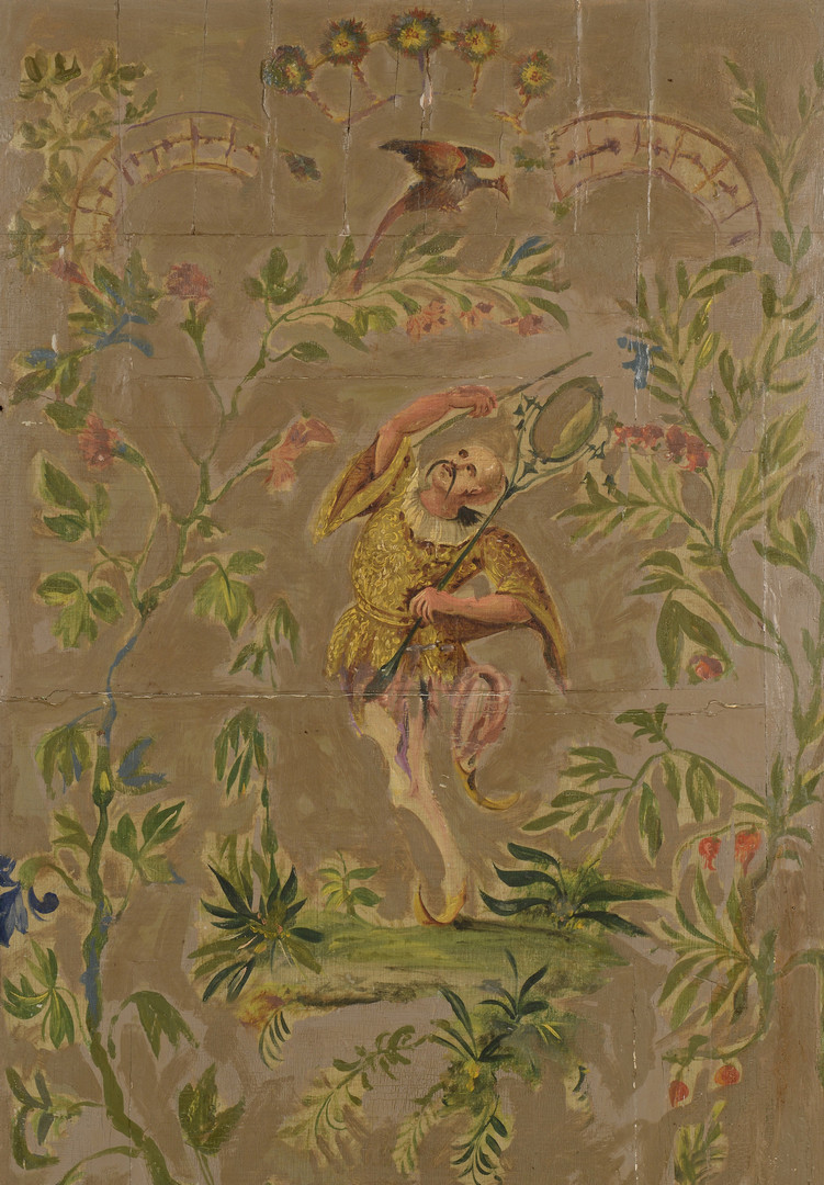 Lot 22: Pair Painted Chinoiserie Panels