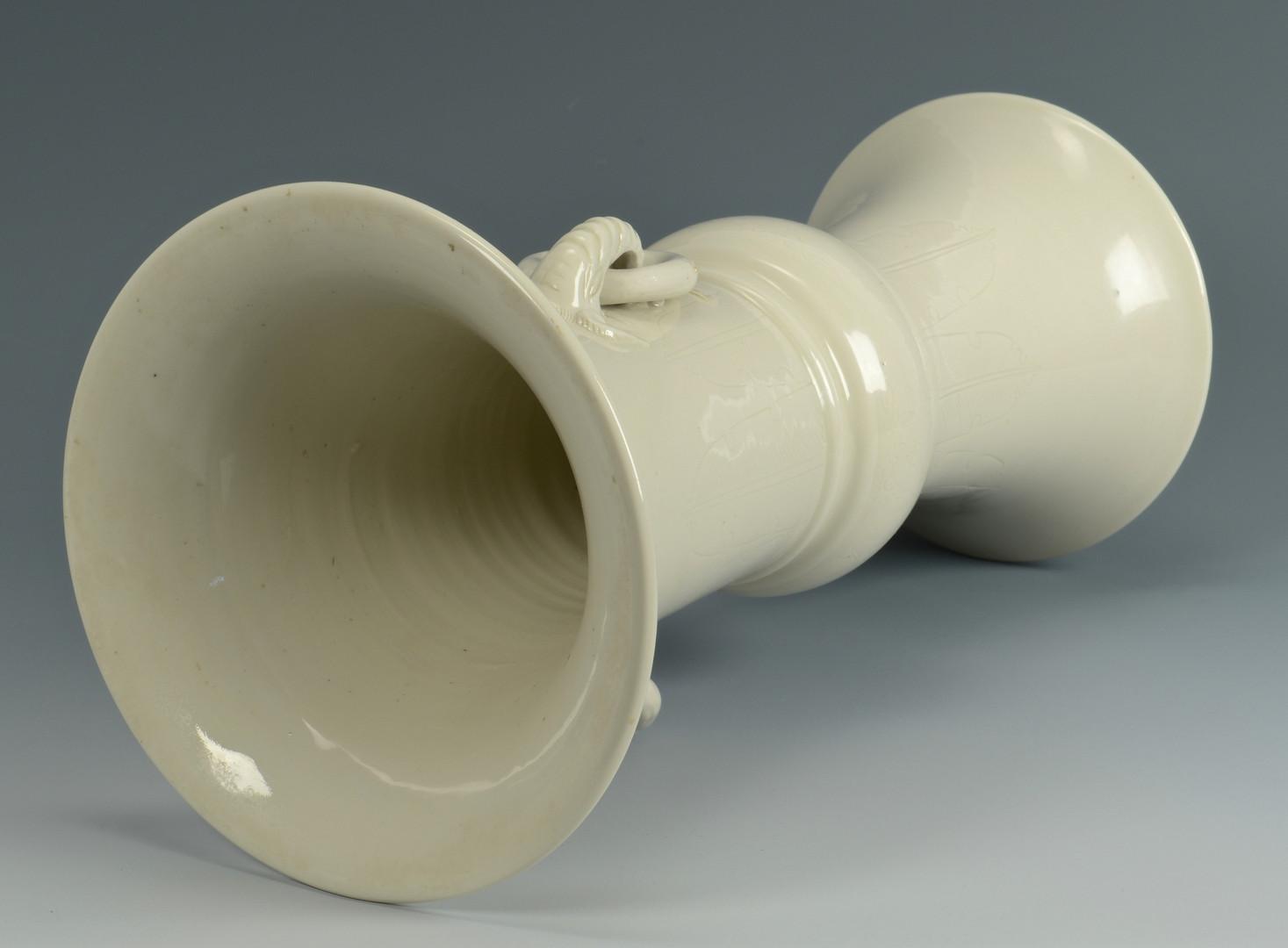 Lot 230: Chinese Blanc de Chine Vase w/ Elephant Handles