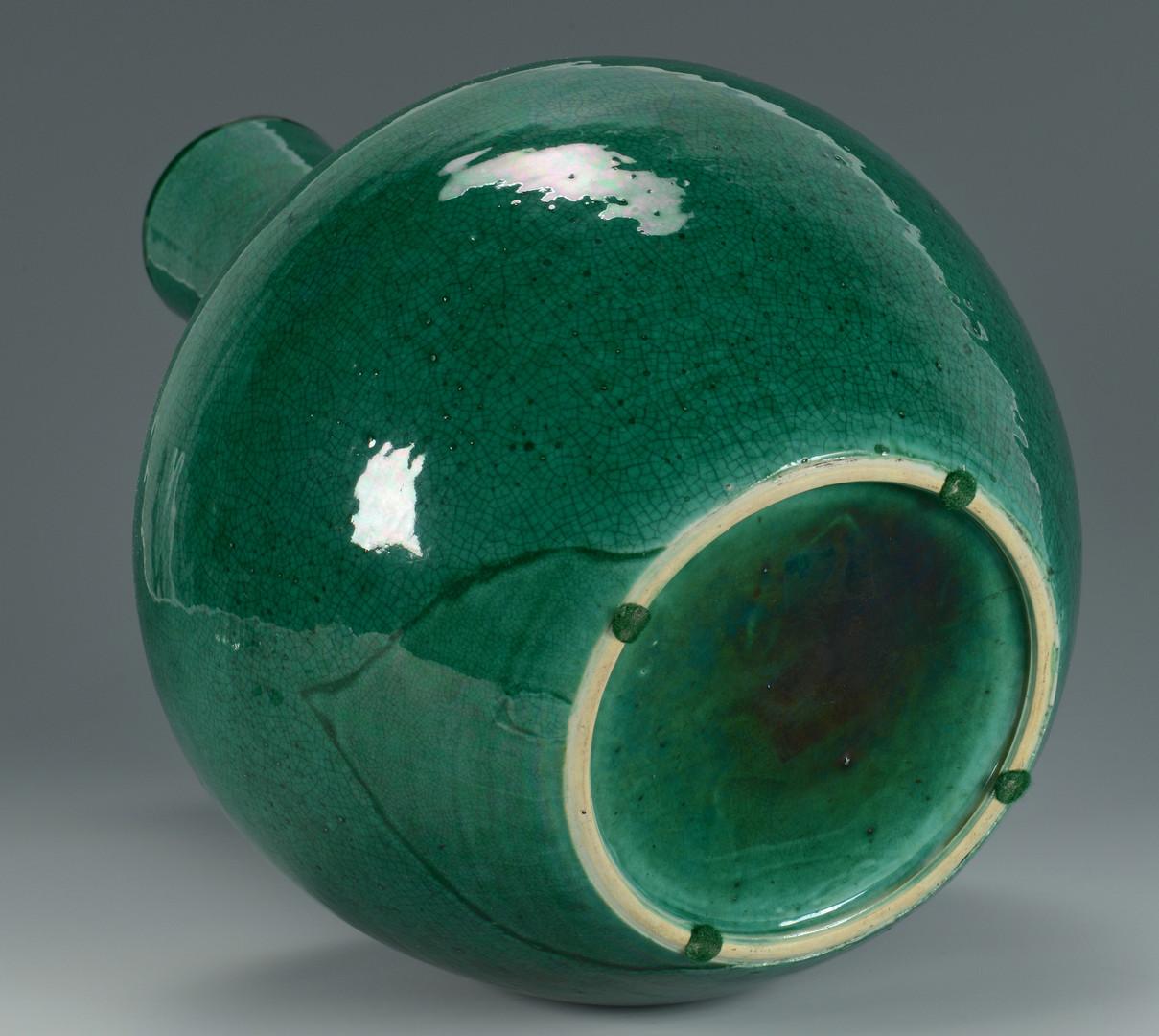 Lot 231: Large Chinese Green Porcelain Bottle Vase