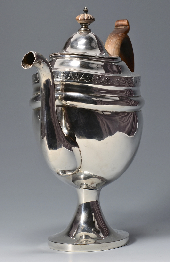 Lot 241: American Federal Silver Teapot
