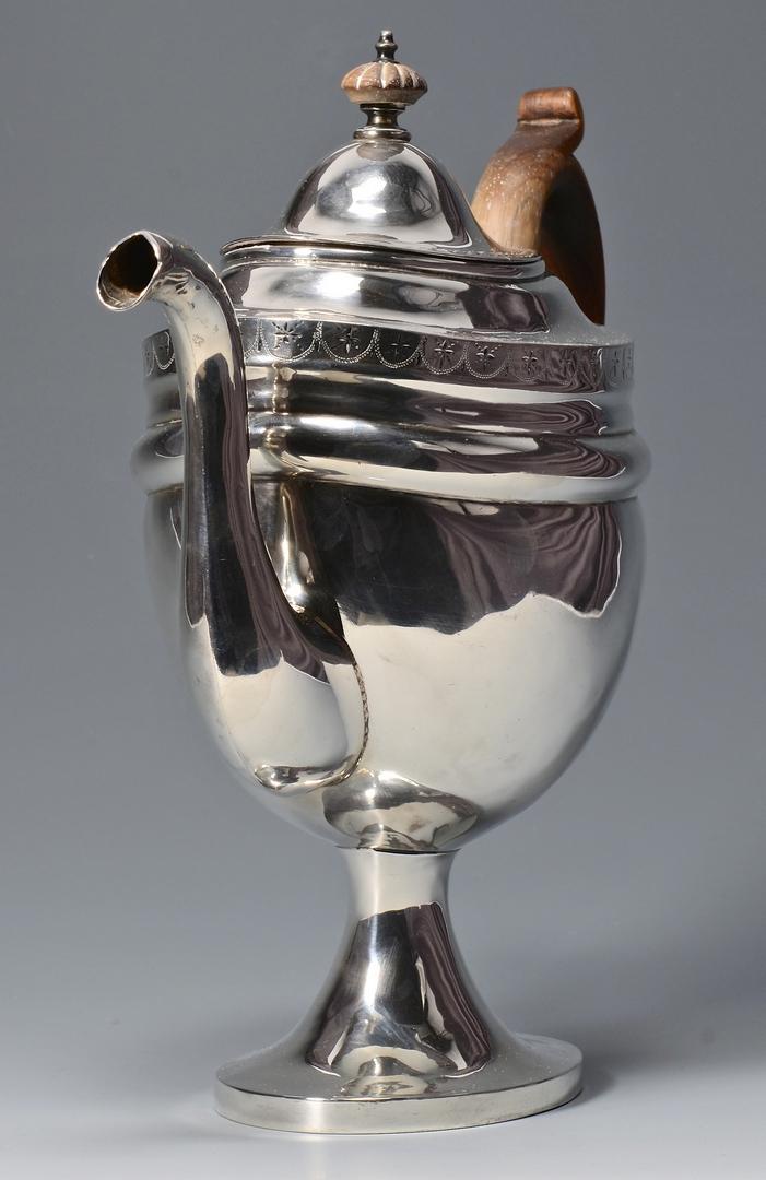 Lot 241 American Federal Silver Teapot
