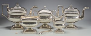 Lot 242: C. A. Burnett Federal Tea Service