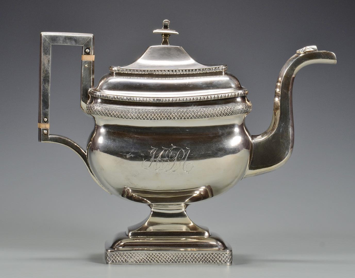 Lot 242: C. A. Burnett Federal Tea Service