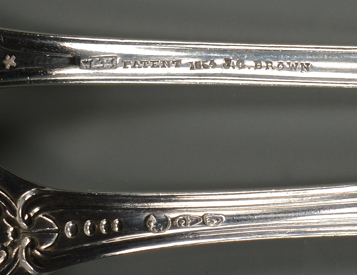 Lot 247: 8 NY Coin Silver Forks + 1 spoon