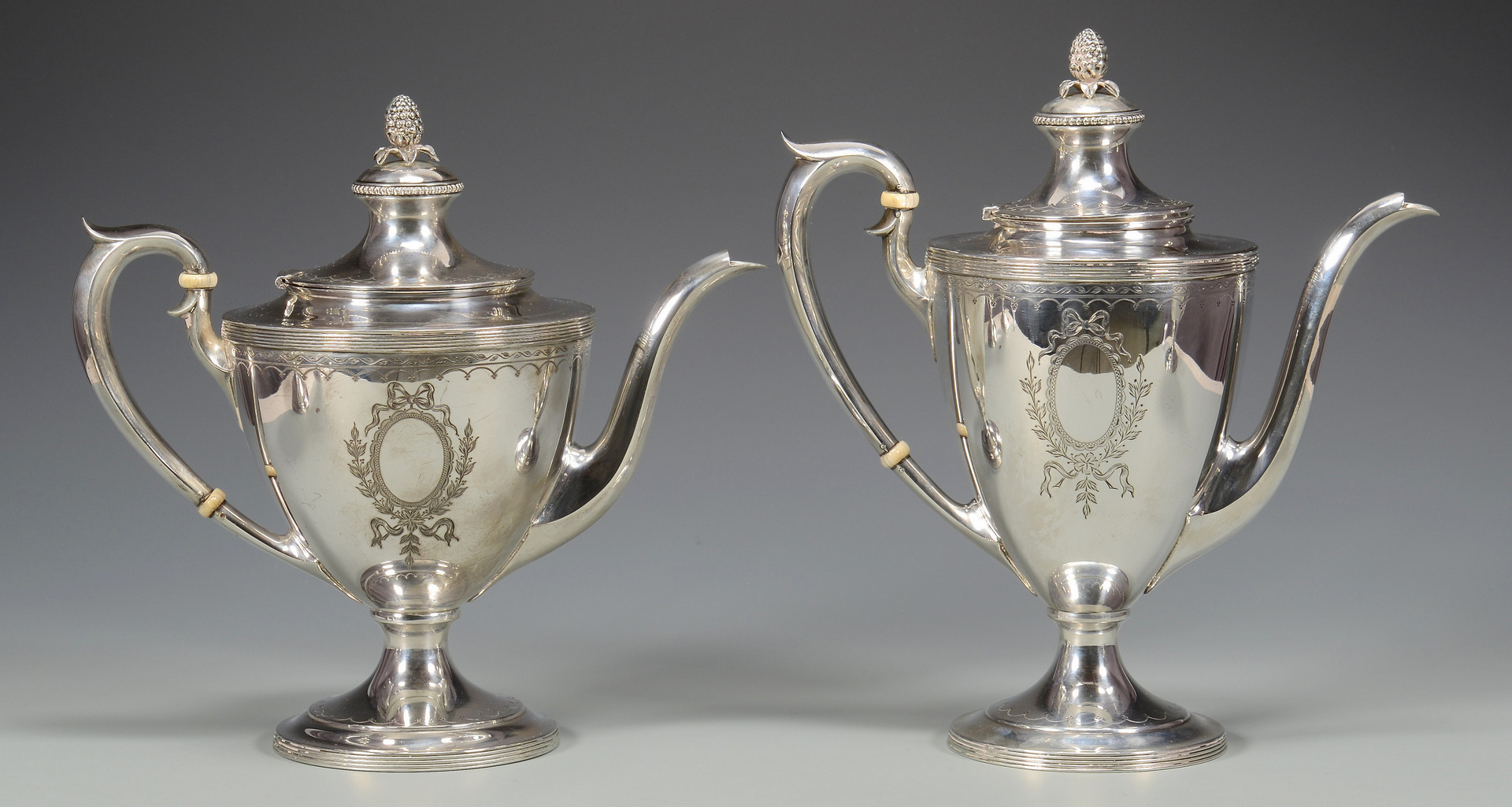 Lot 252: 5 Pc Watson Sterling Tea Service