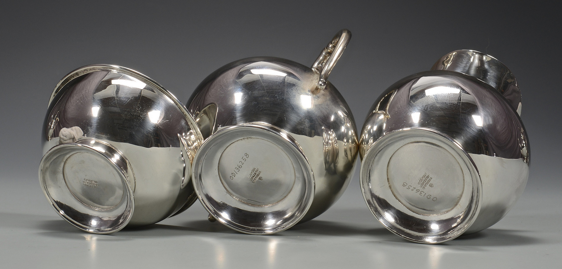 Lot 254: Mexican Sterling Tea Set & Tray