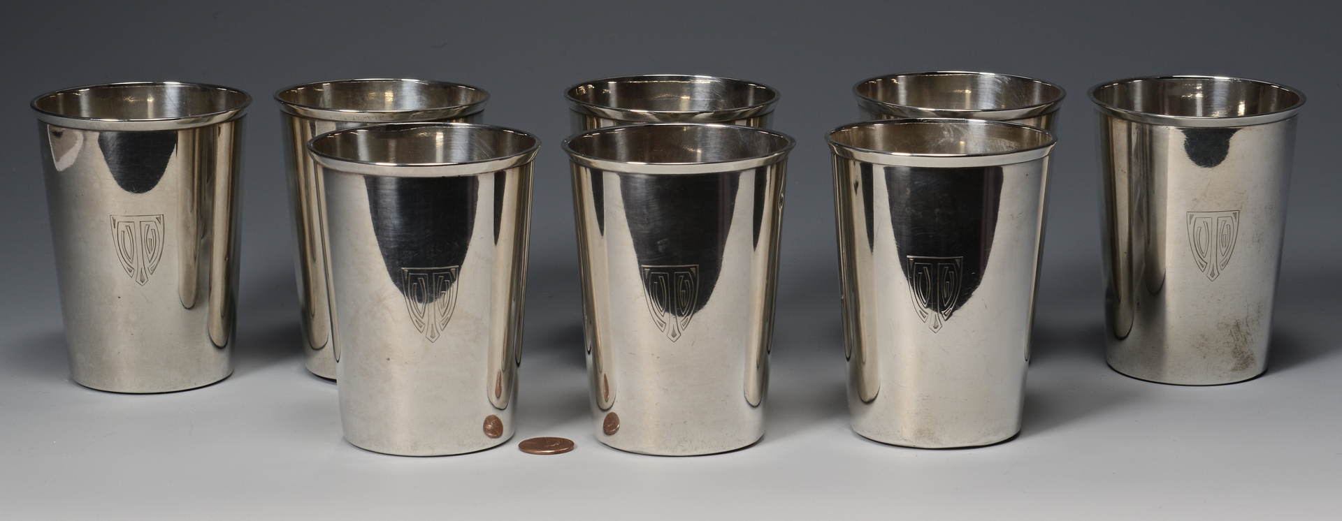 Lot 255: 8 Gorham Sterling Silver Cups