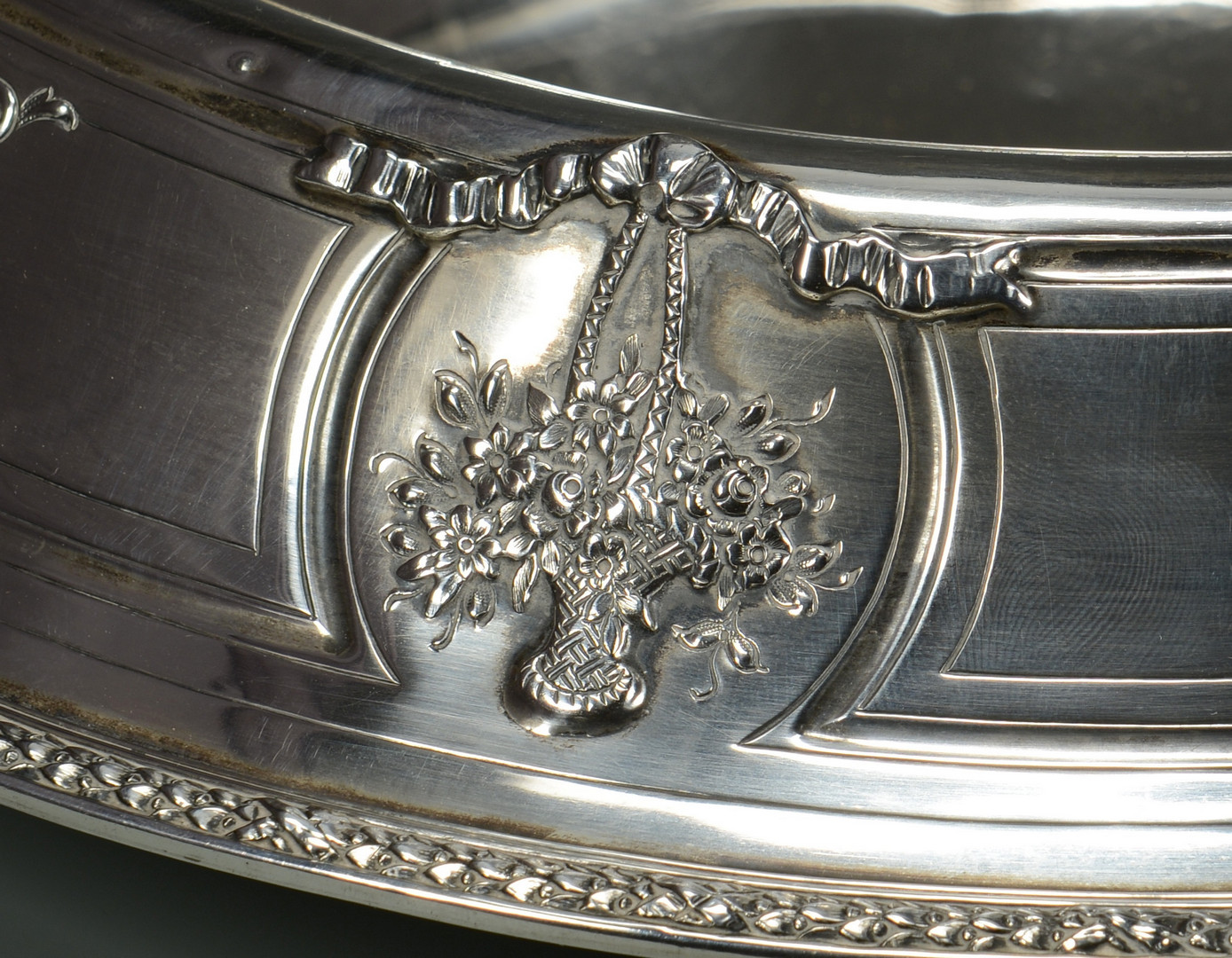 """Lot 257: Sterling Silver Center Bowl, 14"""""""