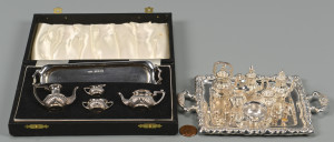 Lot 259: Mini Silver Novelties inc. 2 Tea Sets