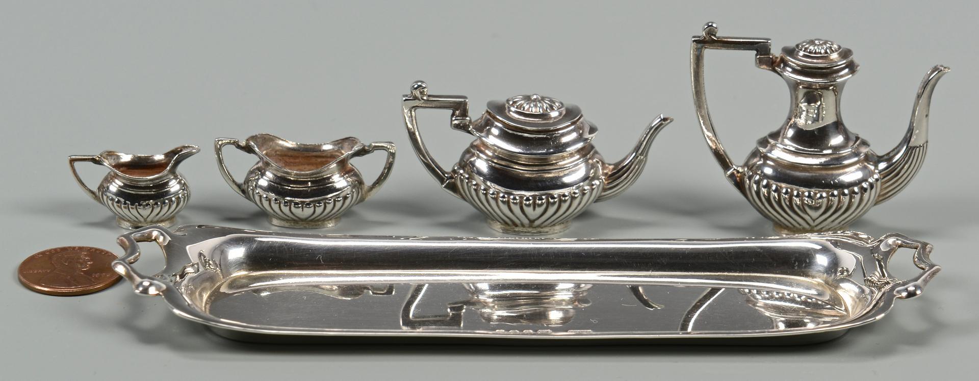 Lot 259: Mini Silver Novelties inc. 2 Tea Sets