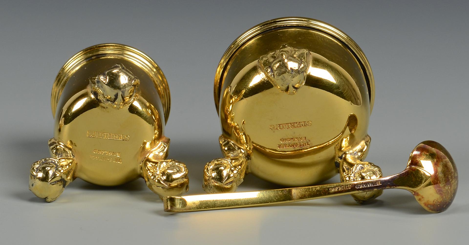 Lot 260: Tiffany Vermeil Caviar or Salt Set