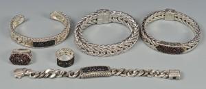 Lot 261: John Hardy Men's Sapphire Sterling Jewelry