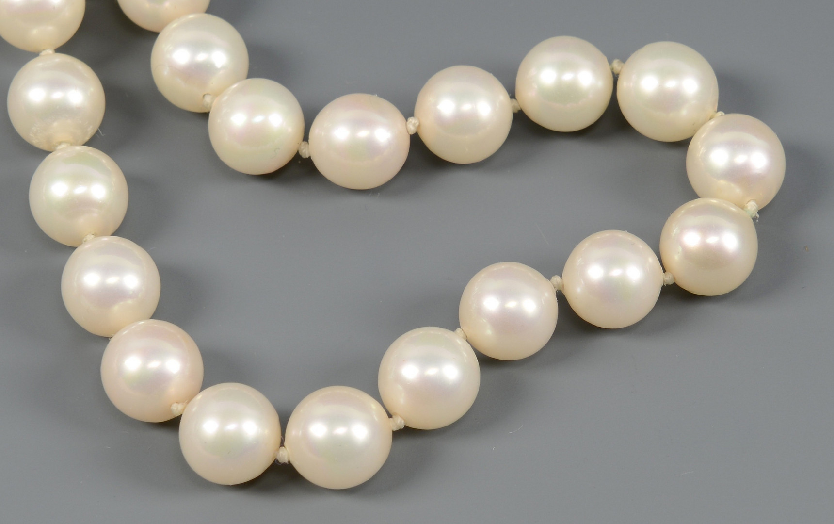 "Lot 267: 54"" 8mm Pearls with Bracelet"