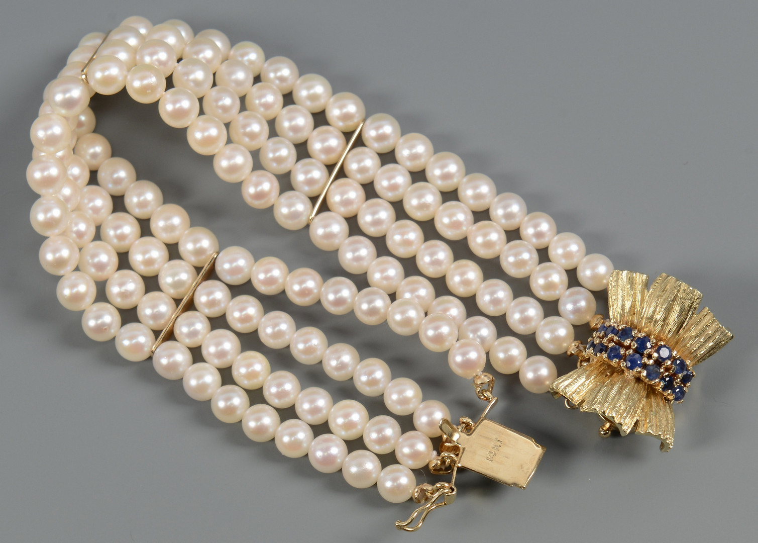 """Lot 267: 54"""" 8mm Pearls with Bracelet"""