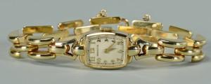 Lot 271: 14k Lady's Hamilton Wristwatch