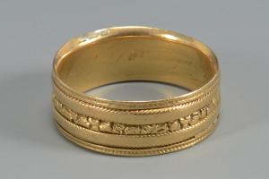 Lot 276: William IV Gold Ring, 18k
