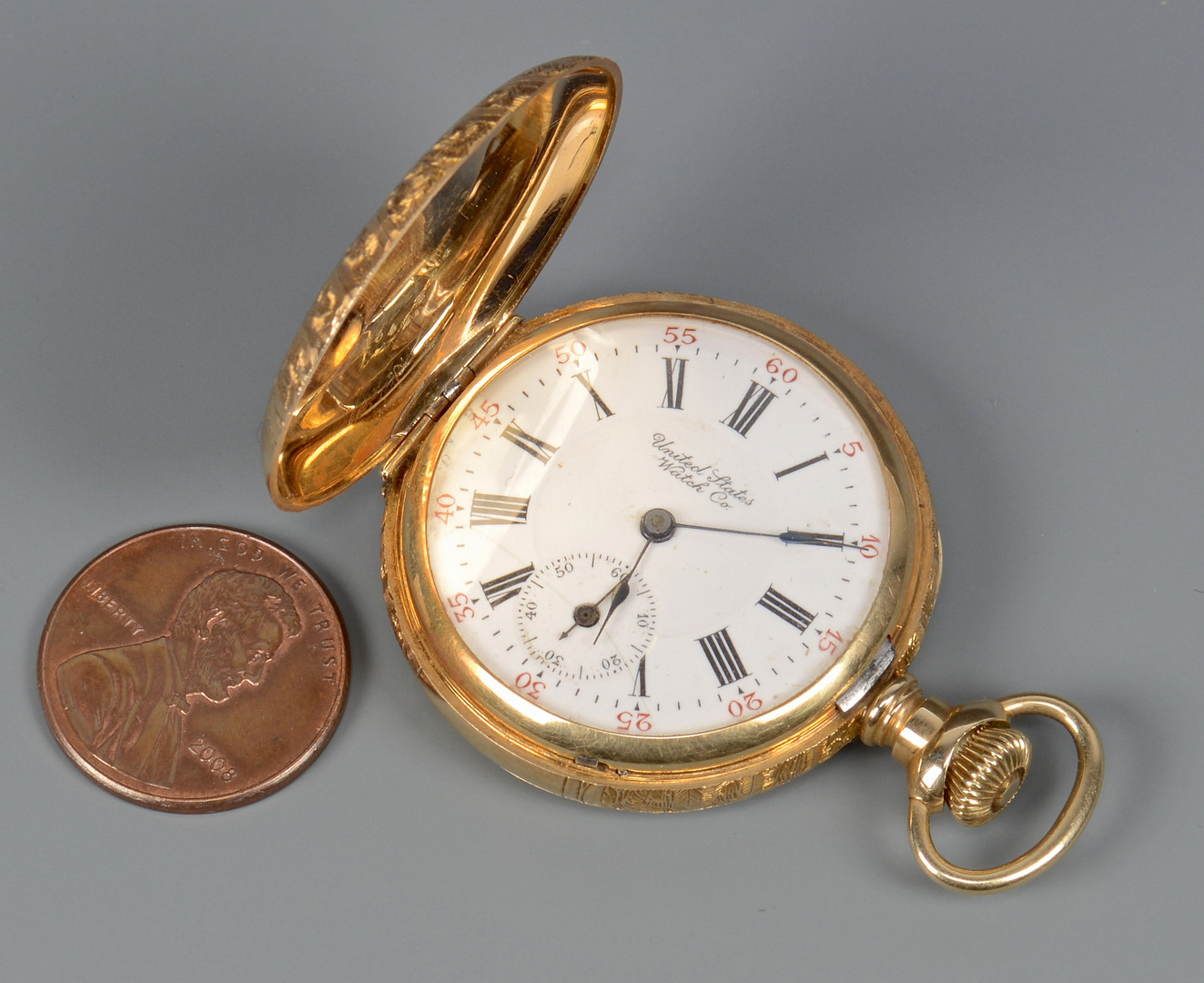 Lot 277: 14k United States Watch Co pocketwatch