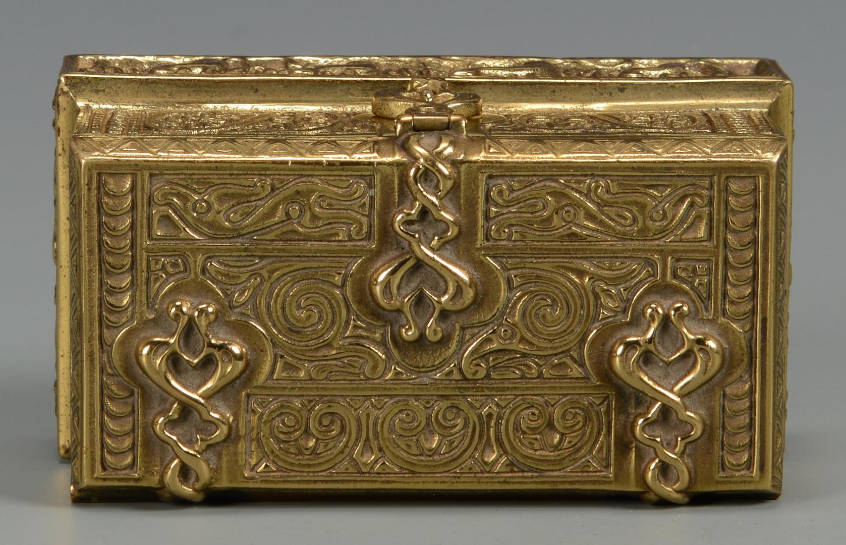 Lot 27: Tiffany Bronze Stamp Box