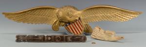 Lot 281: Painted Eagle Carvings & Sailor Art
