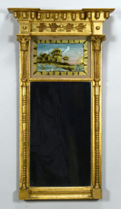 Lot 285: Federal Gilt Carved Mirror
