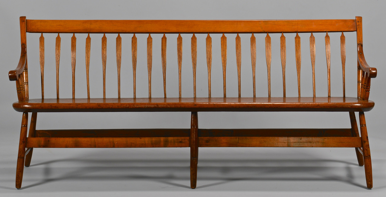 Lot 287: American Windsor Settee