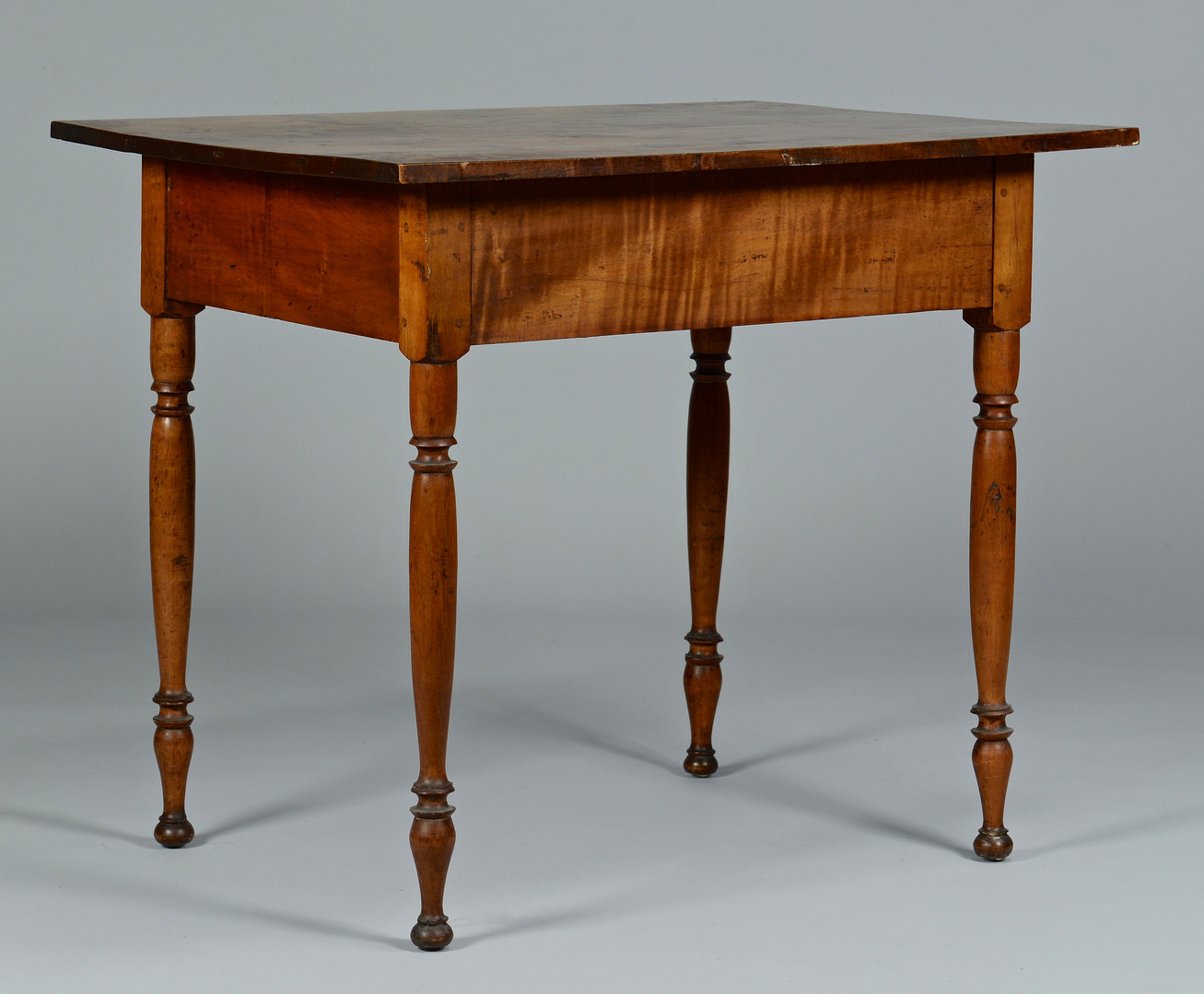 Lot 288: One Drawer Tiger Maple Work Table