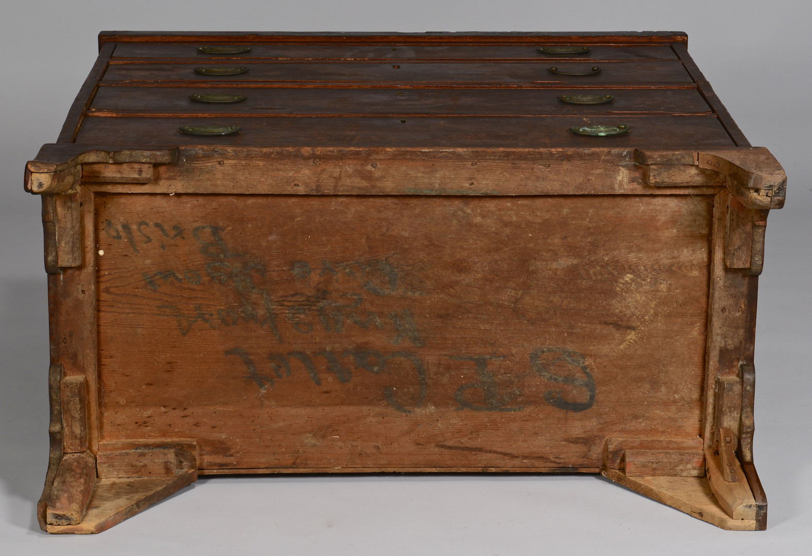 Lot 296: East TN Hepplewhite Chest, Signed