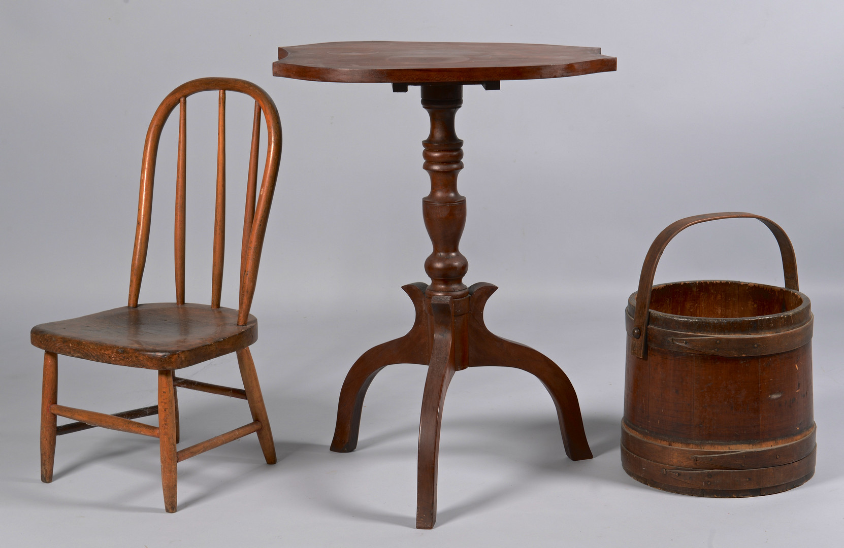 Lot 297: East Tennessee Candlestand, Child's Windsor, Other