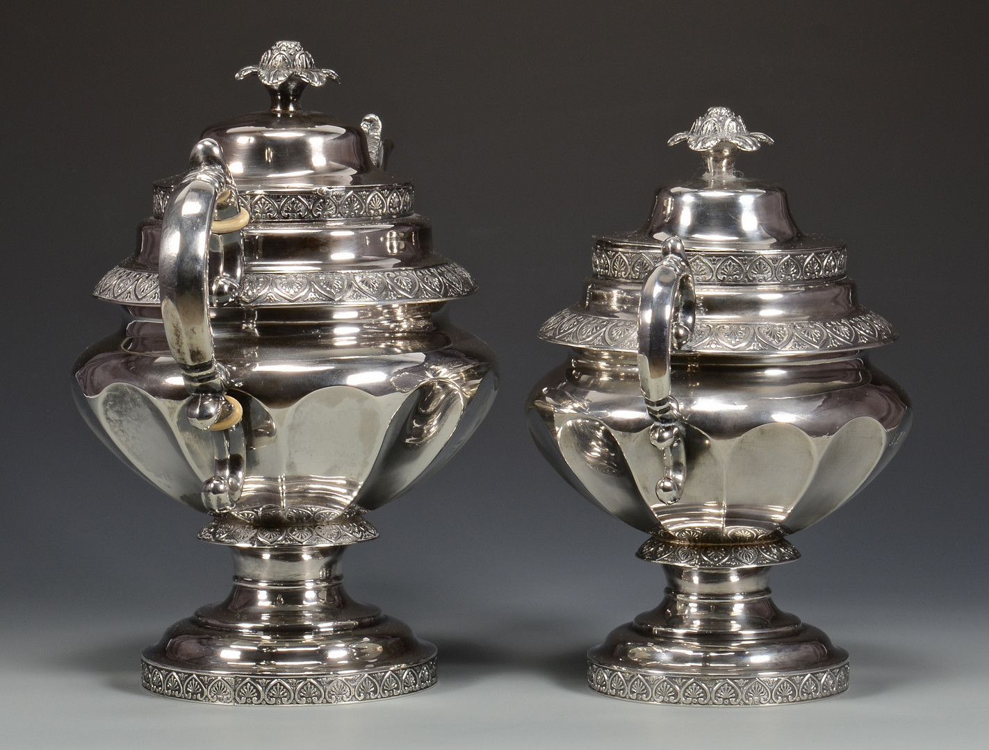 Lot 29: NY Coin Silver Tea Service