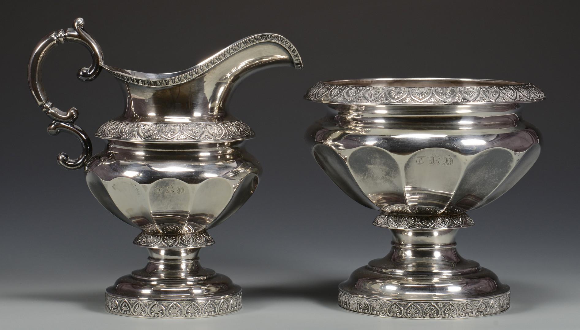 Lot 29: NY Coin Silver Tea Service