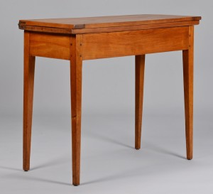Lot 301: East Tennessee Card Table, Hepplewhite