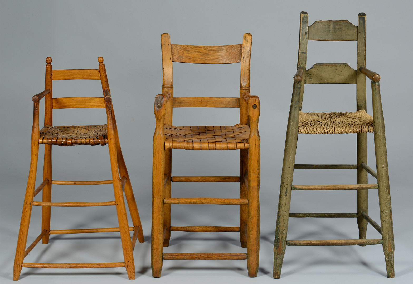 Lot 302: Three Southern High Chairs