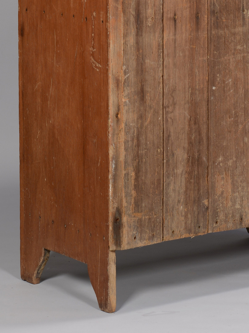 Lot 303: Small East TN One Door Chimney Cupboard, Walnut