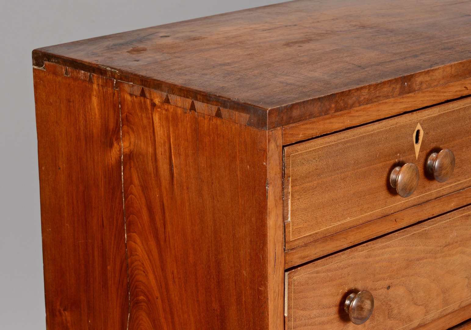 Lot 304: East TN Inlaid Chest of Drawers