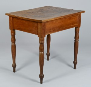 Lot 306: Middle TN Cherry Table w/ Apron Drawer