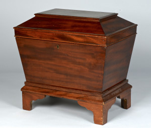 Lot 308: English Mahogany Cellarette