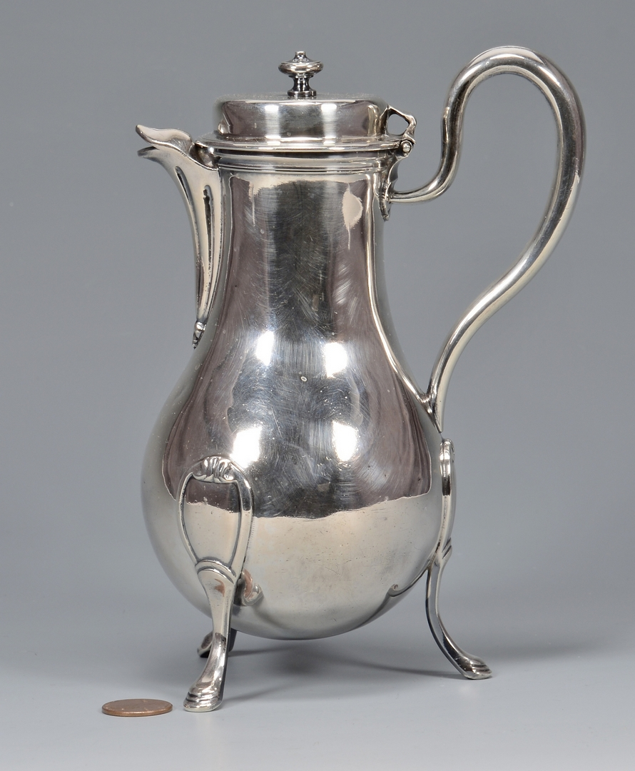 Lot 30: 18th C. French Silver Coffee Pot
