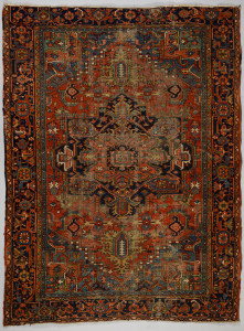 Lot 317: Antique Heriz carpet c.1920