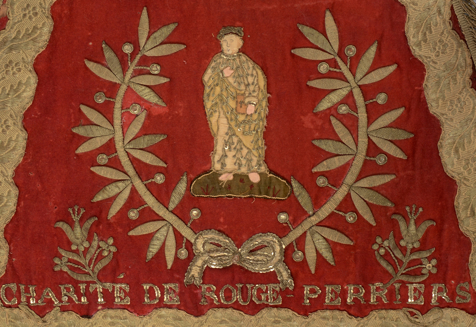 Lot 320: Early French Religious Textile