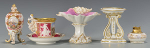 Lot 327: 5 pcs Porcelain inc. KPM